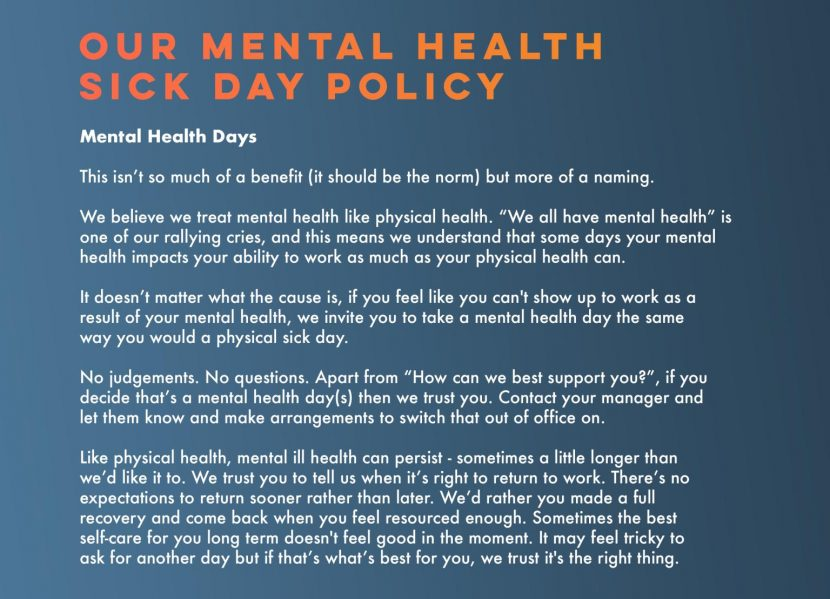 sanctus mental healt policy